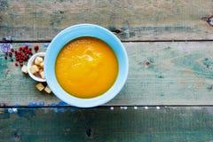 奶油色汤蔬菜 免版税图库摄影