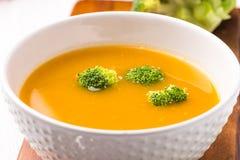 奶油色汤蔬菜 免版税库存图片
