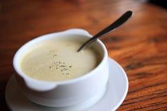 奶油色汤 免版税库存图片
