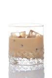 奶油色玻璃威士忌酒 免版税库存照片