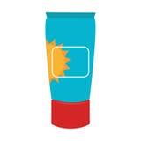 奶油色瓶遮光剂美容品 向量例证