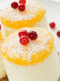 奶油色的乳酪蛋糕变酸 免版税库存图片