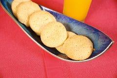 奶油色的曲奇饼变酸 免版税库存图片