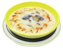 奶油色蘑菇汤蔬菜 免版税库存图片