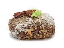 奶油色蛋糕'与奶油的土豆',查出 免版税库存图片