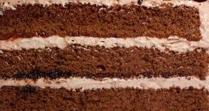 奶油色蛋糕的特写镜头 免版税图库摄影