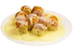 奶油色馅饼香草 库存图片