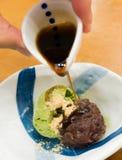 奶油色绿色冰日本人茶 免版税图库摄影