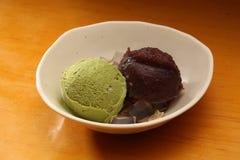 奶油色绿色冰茶 免版税库存图片