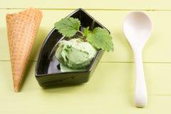 奶油色绿色冰茶 免版税图库摄影