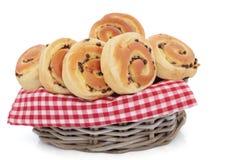 奶油蛋卷小圆面包筹码巧克力 库存照片
