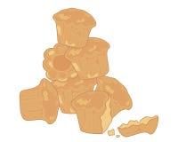 奶油蛋卷小圆面包 皇族释放例证