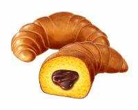 奶油蛋卷巧克力s 免版税库存图片