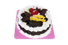 奶油蛋糕生日快乐 库存照片