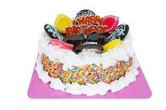 奶油蛋糕生日快乐 图库摄影