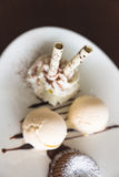 奶蛋烘饼卷 库存照片