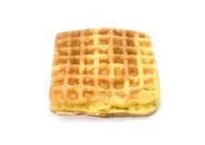 奶蛋烘饼在白色背景的蜂窝糖果 免版税库存照片