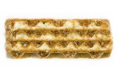 奶蛋烘饼的接近的照片 免版税库存图片