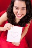 她恋爱了并且是愉快的 免版税库存照片