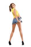 她烈的短裤妇女 免版税库存图片