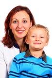 她的妈妈儿子 图库摄影