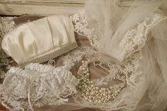 她的婚礼项目 免版税库存照片