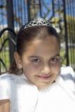 她的第一个圣餐的女孩 库存图片