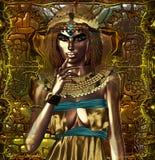 她的头脑的埃及 库存图片