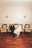 她礼服和他衣服 免版税库存图片