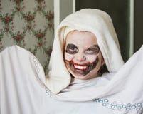 她要是小丑 免版税库存图片