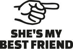 她` s我的有手指权利的最好的朋友 向量例证