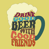 好人饮料好啤酒-印刷术设计 皇族释放例证