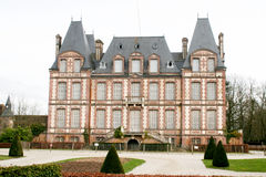 好和美丽的城堡在法国 免版税库存图片