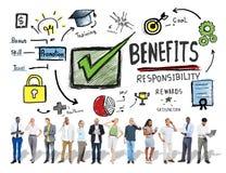 好处获取赢利收入收入企业技术概念 免版税图库摄影