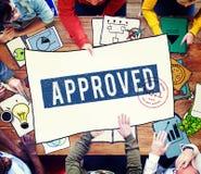 好处被批准的收入设计会议概念 免版税库存照片