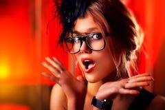 年轻好奇女子 免版税库存图片