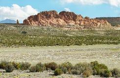好奇岩层  图库摄影