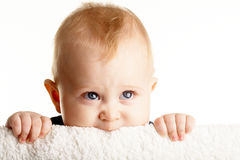 好奇的婴孩 免版税库存照片