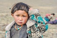 好奇视域在尼泊尔 免版税库存图片