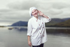 好少妇厨师 免版税图库摄影