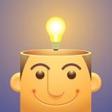 好想法,顶上的电灯泡 免版税库存照片