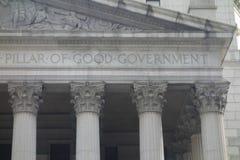 好政府柱子  库存图片