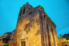 好朋友,肋前缘Brava,西班牙:中世纪老镇 免版税库存图片