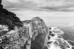 好望角黑白的南非 免版税库存照片