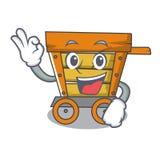 好木台车字符动画片 免版税图库摄影