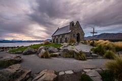好牧羊人的教会,新西兰好牧羊人的教会在特卡波湖岸位于  图库摄影