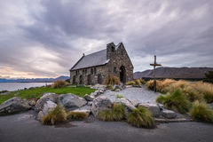 好牧羊人的教会,新西兰好牧羊人的教会在特卡波湖岸位于  免版税图库摄影