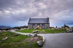 好牧羊人的教会,新西兰好牧羊人的教会在特卡波湖岸位于  免版税库存图片