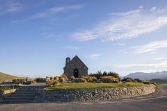 好牧羊人的教会,特卡波湖,新西兰 库存照片