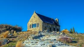 好牧羊人,特卡波湖,新西兰教会  免版税库存照片